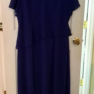 Positive Attitude Dresses - Blueberry Dress With Asymmetric Attached Cover